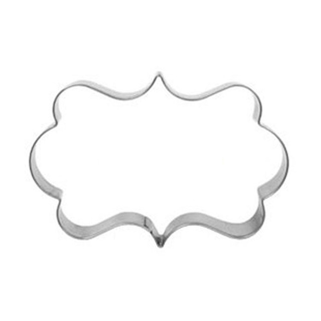 1pcs Plaque Cutter Cookies Frame Cake Rectangle Fancy Stainless Mold ...