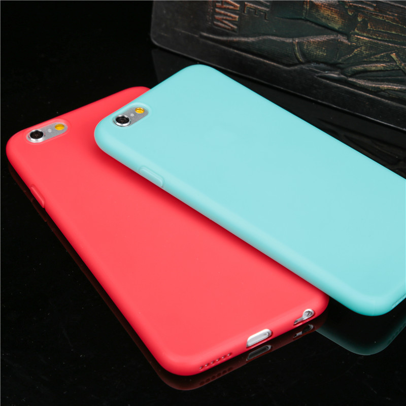 Hot sale shell Candy Colorful Ultra thin Cute Soft TPU Phone Cases for iPhone 6 6S