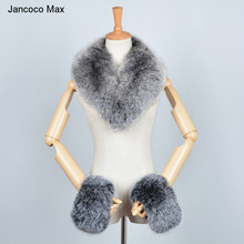 2019 New Arrival Real Fox Fur / Raccoon Collar Cuffs Women Winter Fashion Magnetic Scarf S7245