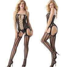 Women Hollow Lingerie Bodystockings Perspective Bodysuit Underwear