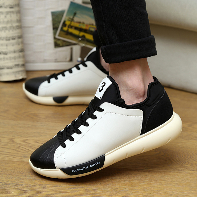 Fashion Men's Casual Slip On Shoe Thick Soled Sport Sneakers