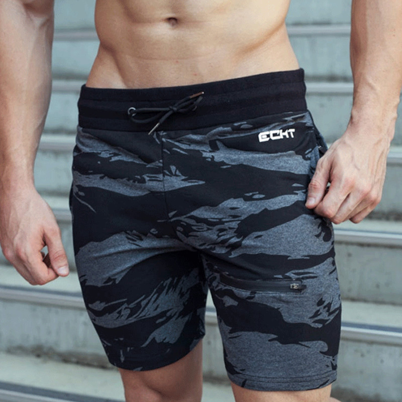 2017 New Brand Shorts Men High Quality Camouflage Cotton Fitness And Bodybuilding Leisure Short Casual Shorts Workout Sweatpants