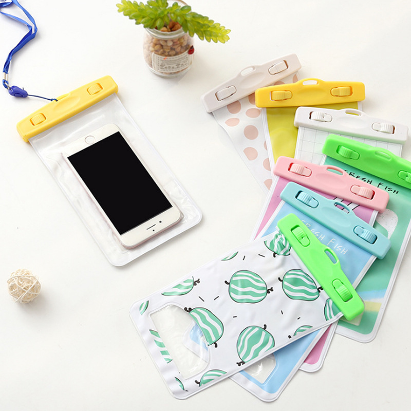 Fashion Women Men Cartoon Cute Waterproof Credit Card Holder Bag PVC Cell Phone Case Coi ...