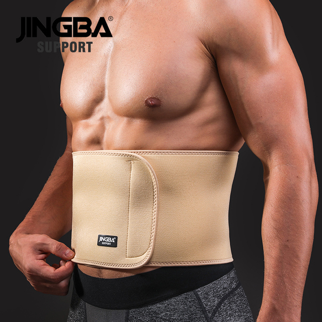 JINGBA SUPPORT Waist trimmer Slim fit Abdominal Waist sweat belt Waist back support belt Fitness Equipment Sport protective gear