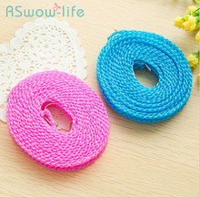2 Pcs Windproof Clothesline Skid Hook Rope Outdoor Hiking Portable For Household Products