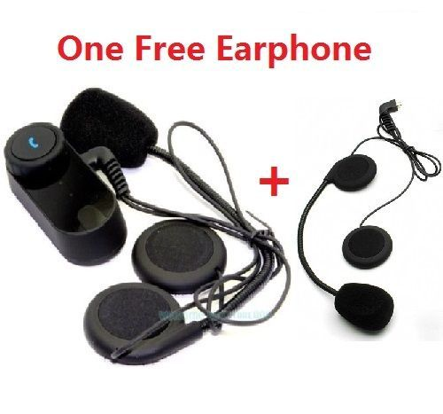 Free Shipping! T-COM02 Wireless Bluetooth Motorbike Helmet Headset For Mobilephone+1 Earphone