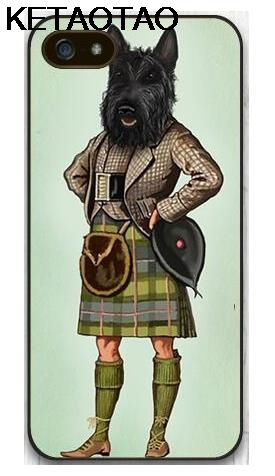 KETAOTAO Scottie Dog Kilt Scottish Terrier Animal Phone Cases for iPhone 4S 5C 5S 6S 7 8 Plus X Case Soft TPU Rubber Silicone