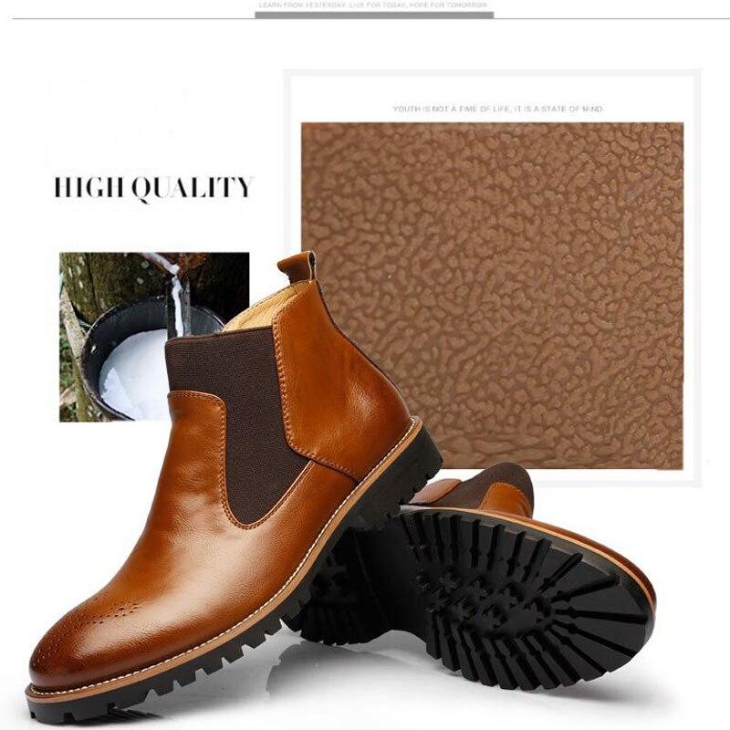 YIGER Men's Chelsea Boots 7