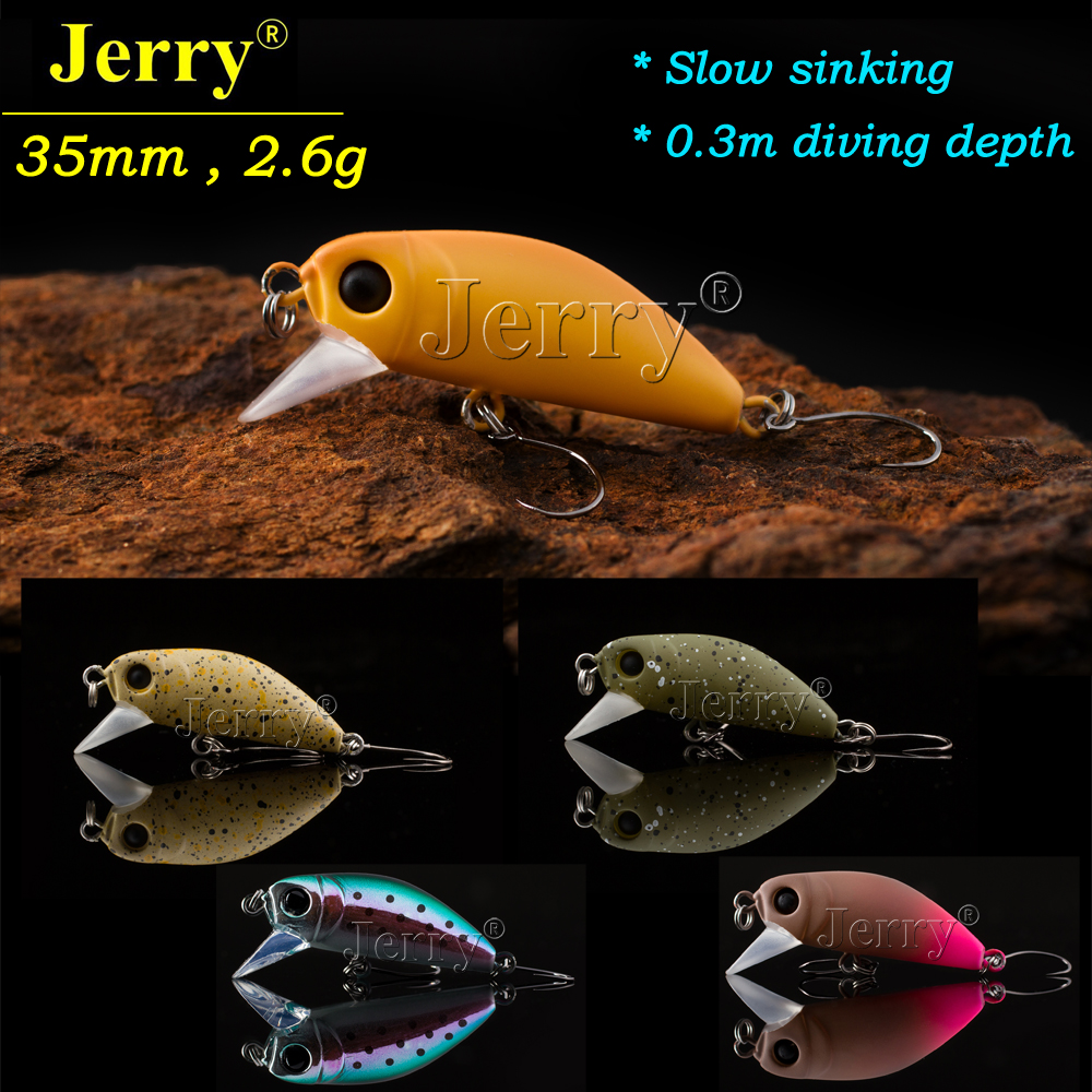 Jerry 1pc 35mm 2.6g trout lures crankbait freshwater fishing bait ultra light micro hard lures slow sinking wobbler jerry 1pc 2 8g fishing blade vibes lipless crankbait ultralight micro lures japan trout lures hard body bait metal vib lure