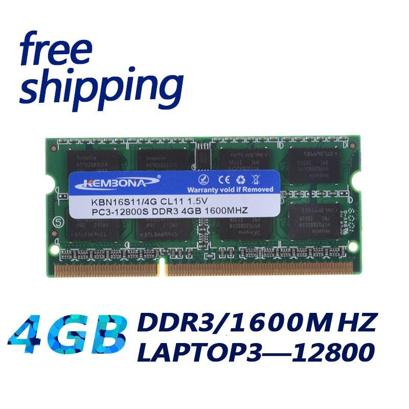 KEMBONA Sodimm Laptop Ram DDR3 With 2GB 4GB 8GB Memory Capacity 8
