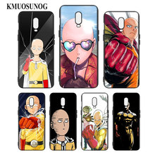 Silicone Case For OnePlus 5T 6 6T Printing Pattern Black Soft Phone Cover Anime Bleach One Punch Man Style