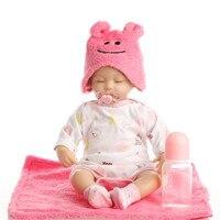 16 Inch 40 Cm Silicone Baby Reborn Dolls Lifelike Doll Pink Doll Birthday Gift