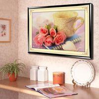 New Rose Love Letter Diy 5d Diamond Painting Home Decor Wall Stickers Mural Full Diamond Mosaic
