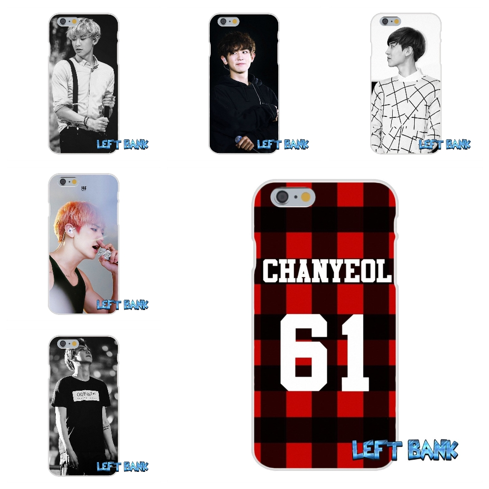 For Samsung Galaxy Note 3 4 5 S4 S5 MINI S6 S7 edge Chanyeol <font><b>EXO</b></font> Soft Silicone TPU Transparent Cover <font><b>Case</b></font>