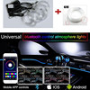 Newest 6M Sound Active RGB LED Car Interior Light Multicolor EL Neon Strip Light APP Phone