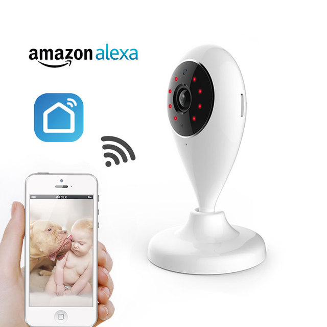 US $29 75 15% OFF|720P IP Camera Wireless Wifi network Surveillance Camera  Smart Life Compatible with Alexa Echo Show and Google Home-in Surveillance