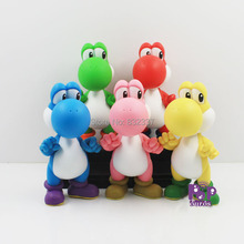 High Quality Super Mario Bros PVC Different Color Yoshi Action Figures 5pcs/set Toys For Collection