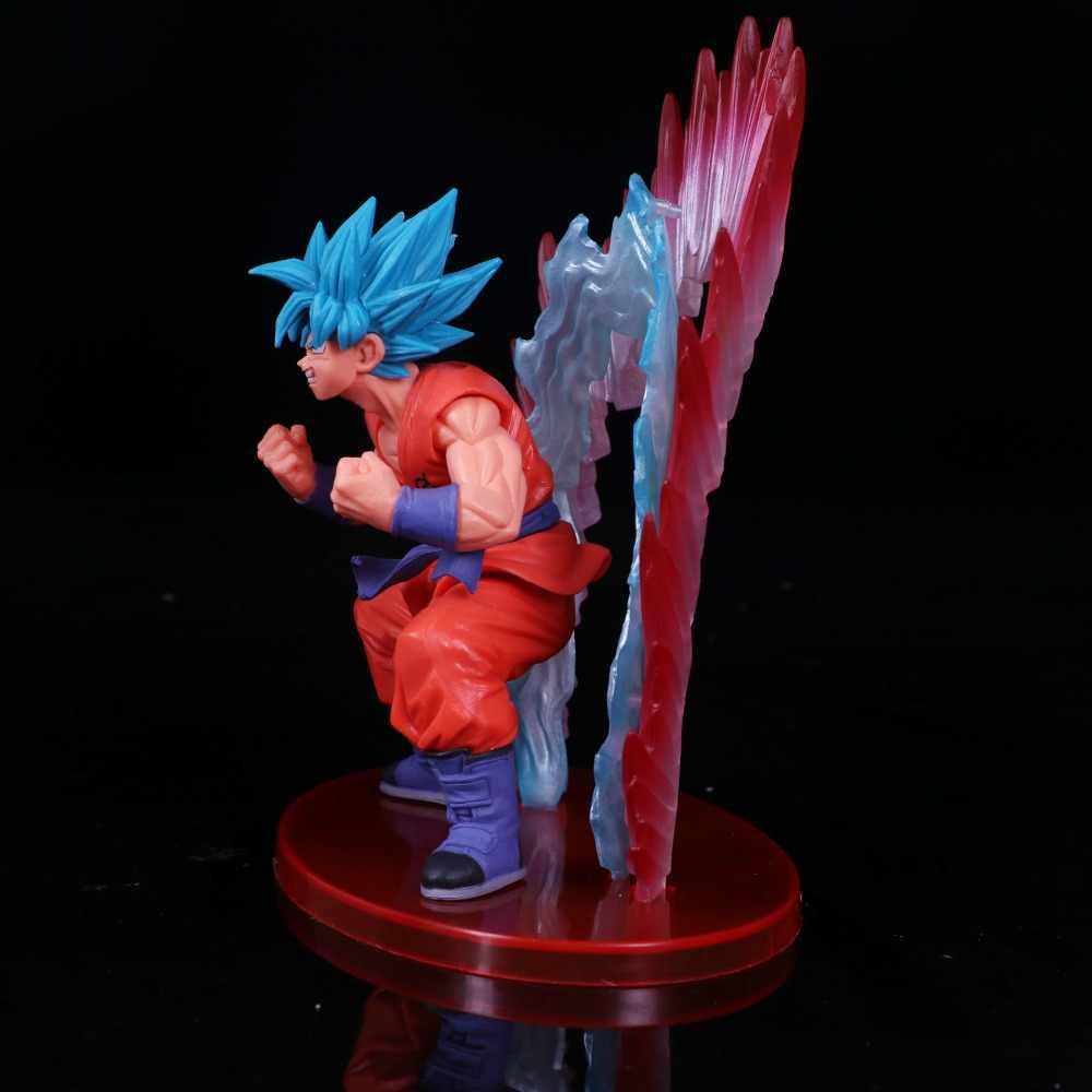 2018 anime Dragon Ball Z Ressurreição F 20 Super Saiyan deus SS Son Goku PVC action Figure Toy modelo para crianças presente
