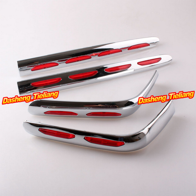 Fairing Trunk And Saddlebag Moldings for Honda Goldwing GL1800 2001-2011 Decoration Boky Kits Parts Accessories Chrome New show chrome accessories 52 612 saddlebag molding insert
