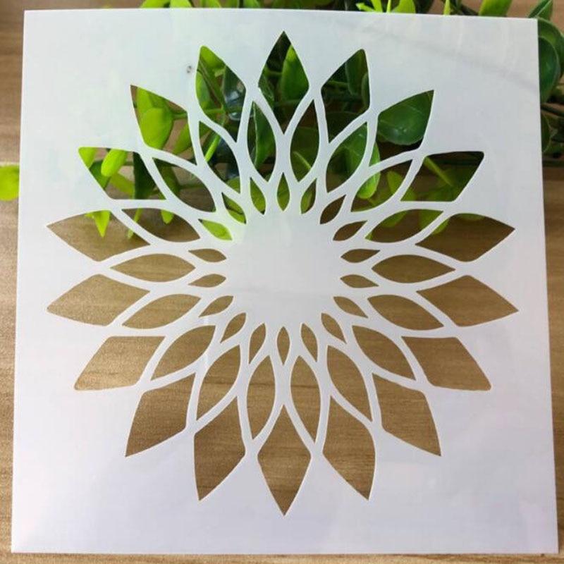 Stencils For Walls Reusable Openwork Sunflower Flower Stencils Painting Scrapbooking Stamping Album Decorative Template