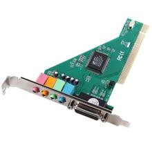 Nouveau 4 canaux 5.1 Surround 3D PC carte son PCI Audio w / jeu MIDI Port carte son