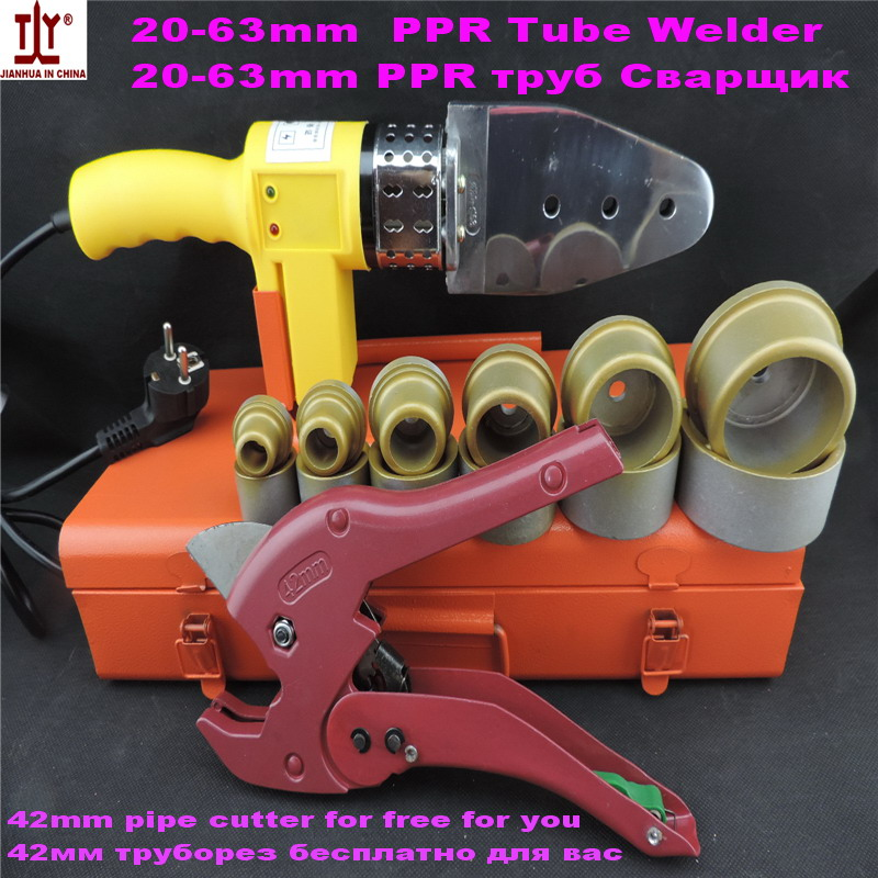 Free Shipping Plumber tools 20-63mm 220V/110V 800W Automatic plastic pipe welding machine/ppr pipe welding machine Tube welder free shipping plumber tool with 42mm cutter 220v 800wplastic water pipe welder heating ppr welding machine for plastic pipes