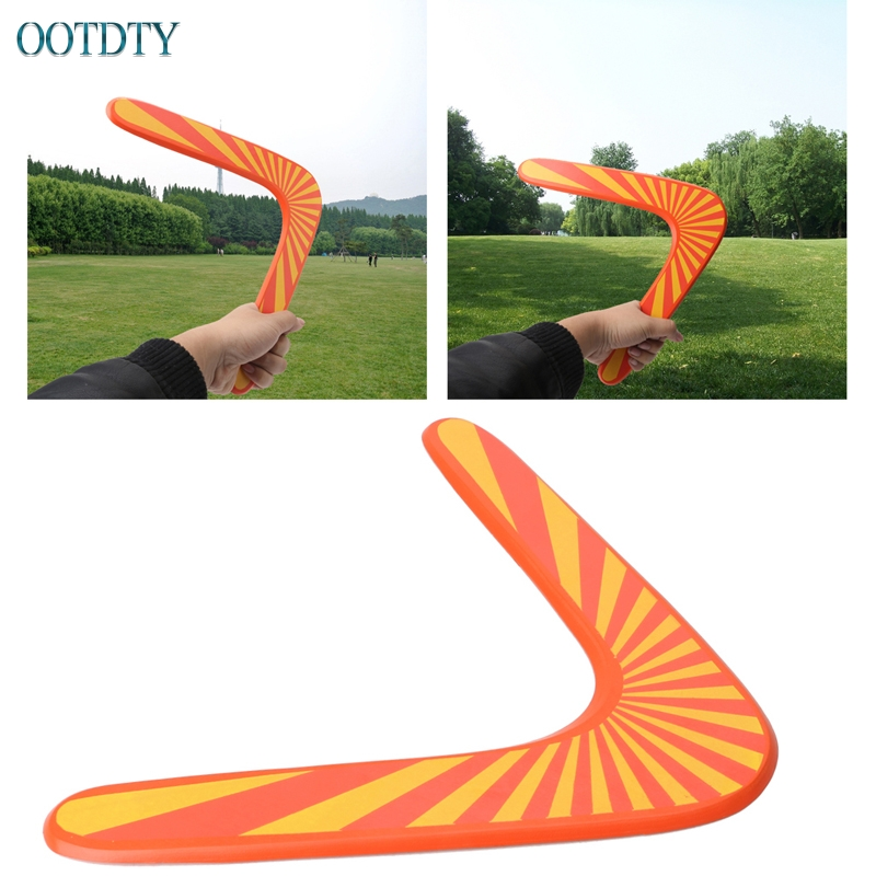 1PC New Triangle V Shaped Boomerang Kids Plastic Toy flying disk Throw Catch Outdoor Game #330