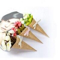 Sıcak Satış Ucuz Yaratıcı Ev Dekorasyon Romantik Kraft Kağıt Yapay Çiçek Fotoğraf Sahne Gül Düğün Gelin Buketi