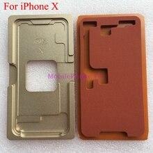 Lcd внешняя стеклянная форма для ламинирования для iPhone X, iPhone X, ультрафиолетовый клей, позиционирование, выравнивание, ламинатор, металлическая форма+ коврик