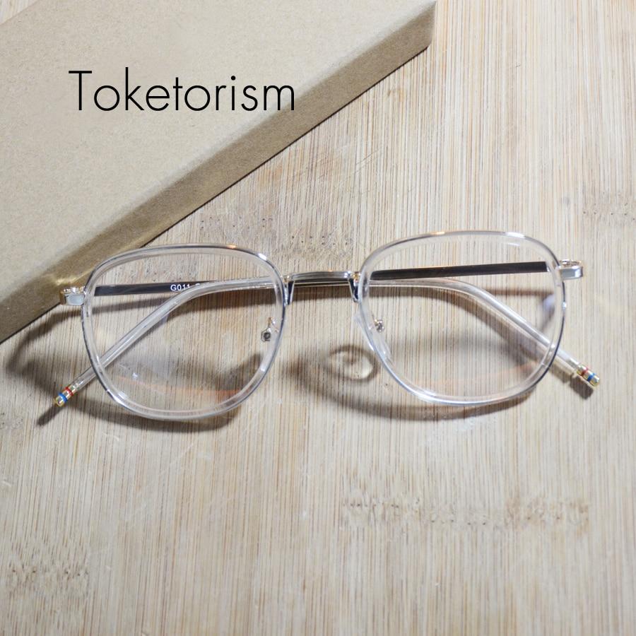 Toketorism gold gläser rahmen retro transparent brillen für mann und ...
