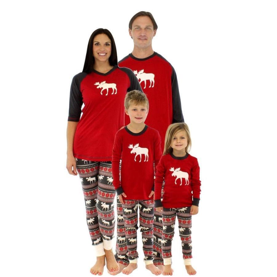 Christmas Family Pajamas Set.2019 2016 New Kids Christmas Suits Boys Girls Christmas