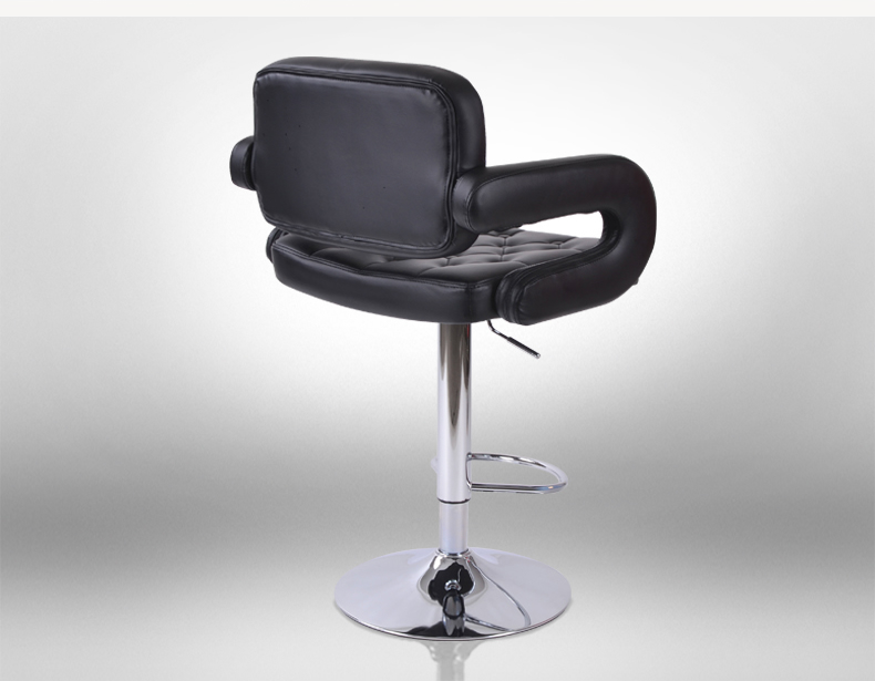 bar lifting rotation chair black color free shipping American style PU leather seat stool villa chair living room stool lifting rotation bar stool flannel pu leather seat free shipping boss coffee seat rose color