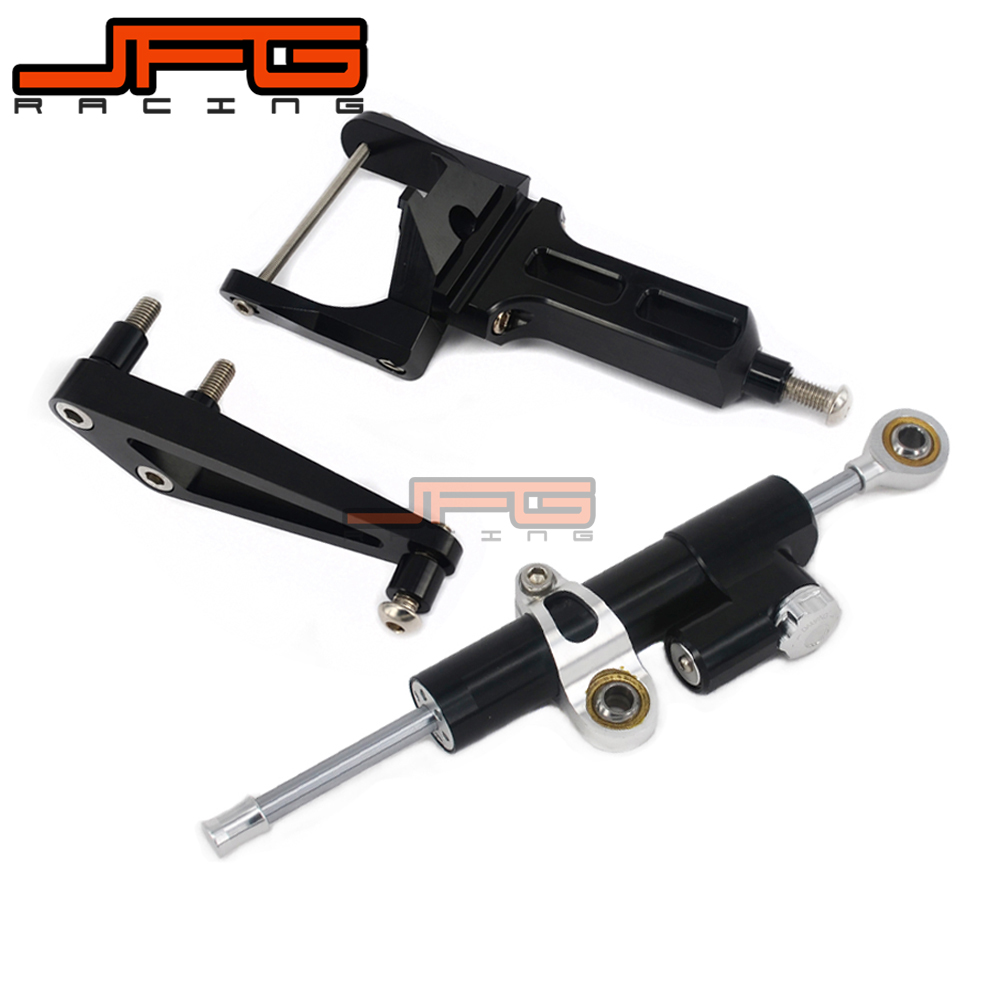 CNC Steering Damper Stabilizer Linear Reversed Safety Control & Adapter Bracket For HONDA CB1300 CB 1300 03 04 05 06 07 08 09-11 motorcycle steering damper stabilize bracket suport for honda cb400 vtec 1 2 3 4 cnc stabilizer linear reversed safety contro