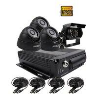 Gratis Verzending 4 Kanaals H.264 2.0MP 1080 P HD AHD 256 GB SD Auto DVR MDVR Video Recorder 4 stks Nachtzicht Dome Achteruitrijcamera Auto Camera