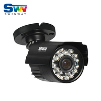 SW 960H HD Analog 1200TVL CCTV Camera Infrared Outdoor Night Vision Waterproof Security Camera Black White