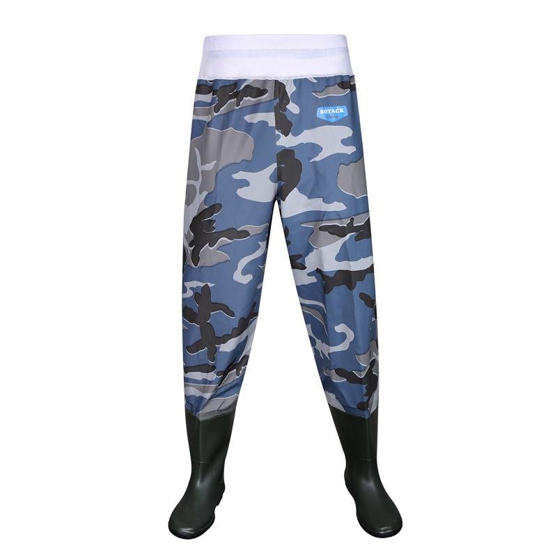 Andult outdoor fishing hunting half body underwater pants clothes waterproof elastic waist rubber rainpants rain <font><b>boot</b></font> wader shoe