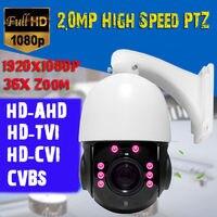 36X 2MP Zoom 1080 P HD AHD/TVI/CVBS 4IN1 MINI CCTV High Speed Dome PTZ Camera|Câmeras de vigilância| |  -