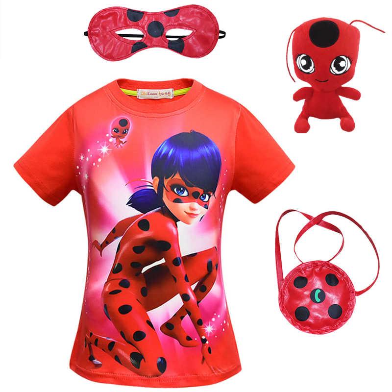 559c15ca2f435 New Camisetas for Kids Boys Girls Brand T Shirts Moana Ladybug 3D Printed Lady  Bug Tee