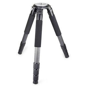 Image 5 - RT90C מקצועי צפרות 10 שכבה סיבי פחמן מצלמה חצובה כבד קומפקטי קערת חצובה עם 75mm קערת & קערת מתאם