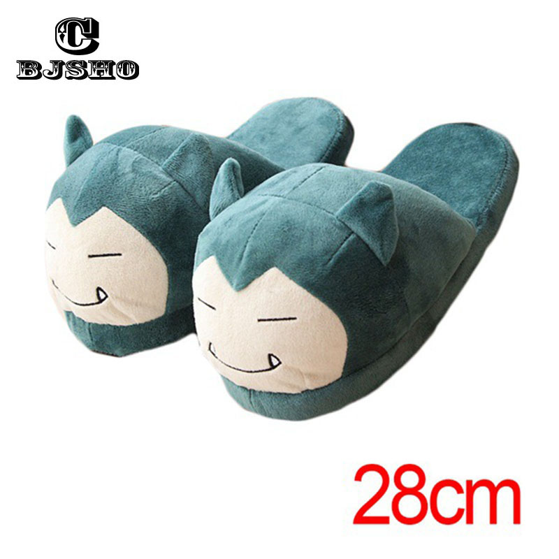 CBJSHO Winter Men Women Pokemon Slippers Elf Ball Pikachu Eevee Umbreon Pokemon Go Plush Shoes Warm Home House Slippers Woman