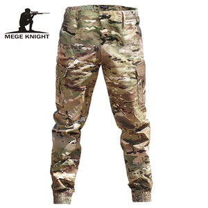 Mege Brand Men Fashion Streetwear Casual Camouflage Jogger Pants Tactical Military Trousers Men Cargo Pants for Droppshipping(China)