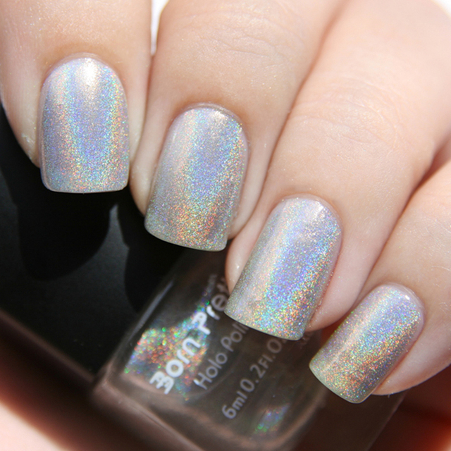 Born Pretty Holographic Holo Glitter Nail Polish Varnish Hologram Effect 1# #6399