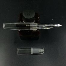 Old Stock OEM(unbrand) Triangular Transparent Clear Fountain Pen Fine Nib женские блузки и рубашки unbrand 2015 vestidos l xxxl wcl211