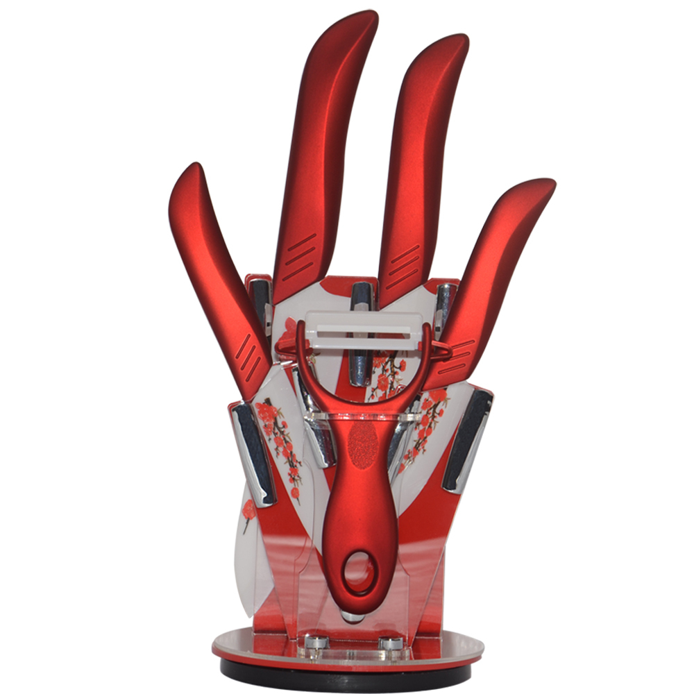 Hot Printing High Quality Fashion Printing Fruit Vegetable Ceramic Knife 3″ 4″ 5″ 6″inch Ceramic Knife Sets Kitchen+Peeler+Block