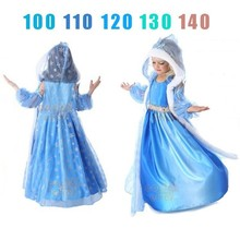 Elsa Anna Dress Girls Costume Cute Party Princess Cosplay Baby Dresses Children's Christmas Birthday Set Clothes kids girls halloween christmas party dresses snow white anna elsa minnie princess tutu dress children dance cosplay cute costume