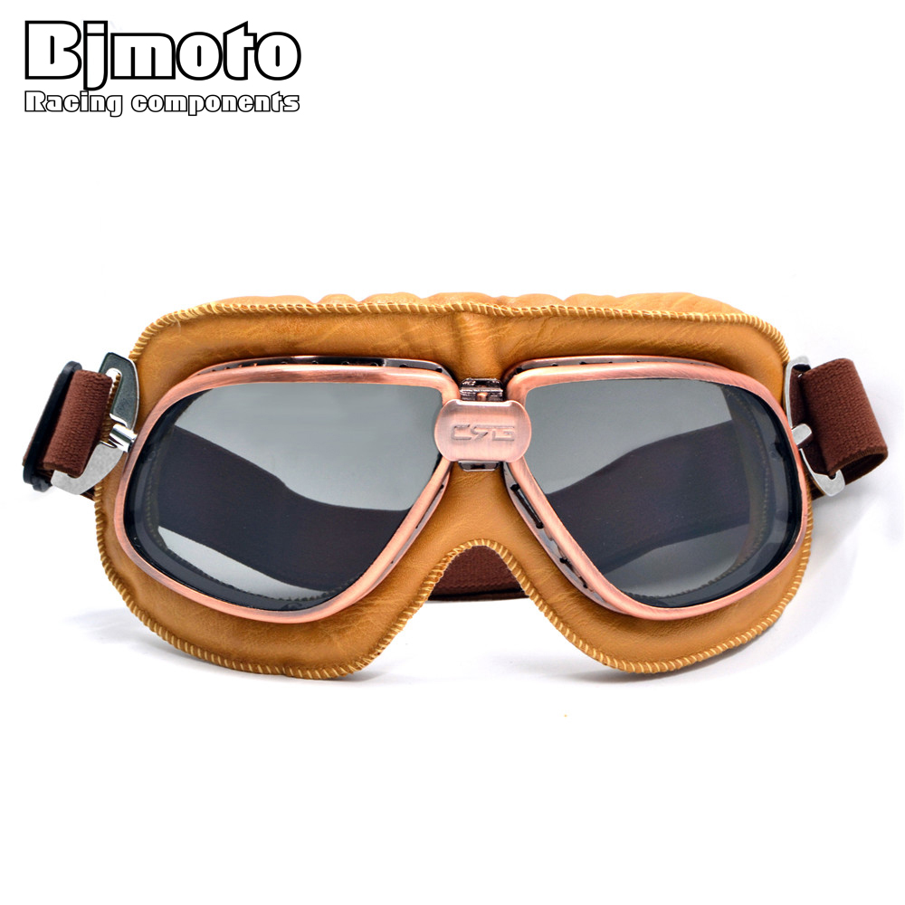 feb275d8257 Vintage Motorcycle Goggles Pilot Motorbike Goggles Glasses Retro Jet Helmet  Eyewear For Aviator Pilot Cruiser Cycling Bicycle-in Motorcycle Glasses  from ...