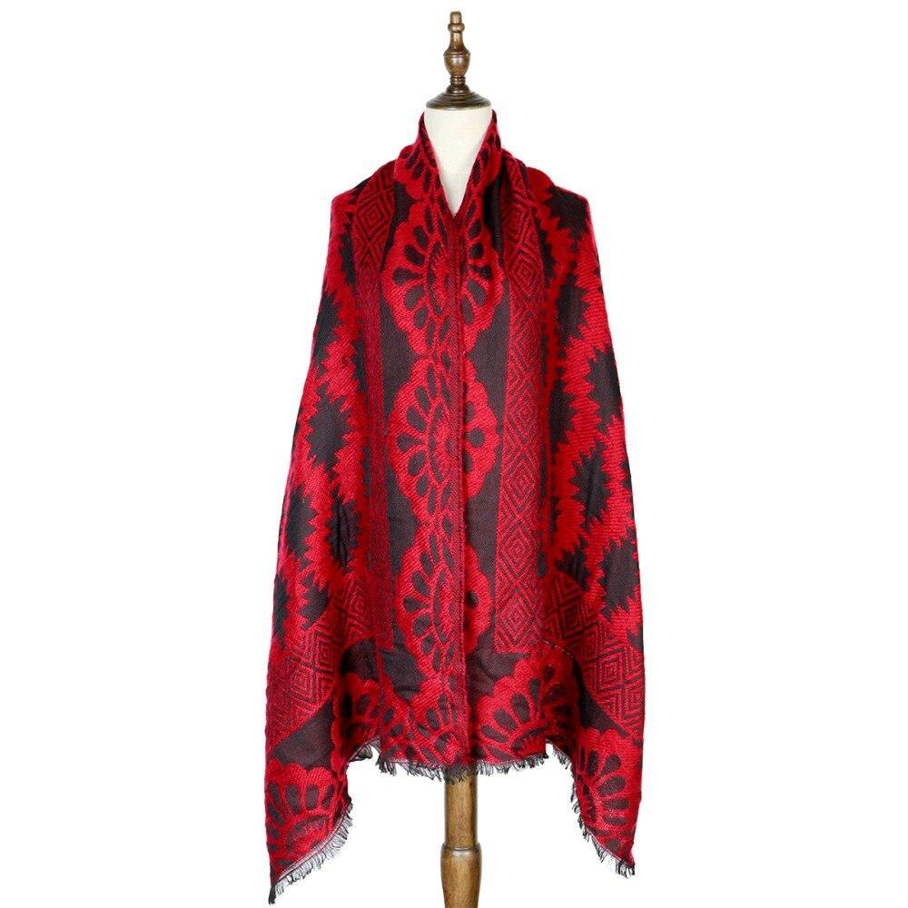 winter shawls large   scarves   260G fashion polyester lady   scarf     wraps   new pashmina jacquard winter capes   wraps   shawls