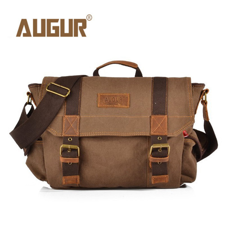 AUGUR Canvas Men Crossbody Bag Messenger Bag Satchel Shoulder Bag Men Retro Tote Sling Casual Travel Handbag
