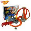 Nueva llegada hotwheels eléctrica extremadamente rápido ciclotrón track sports cars toys para niños regalo de cumpleaños regalo