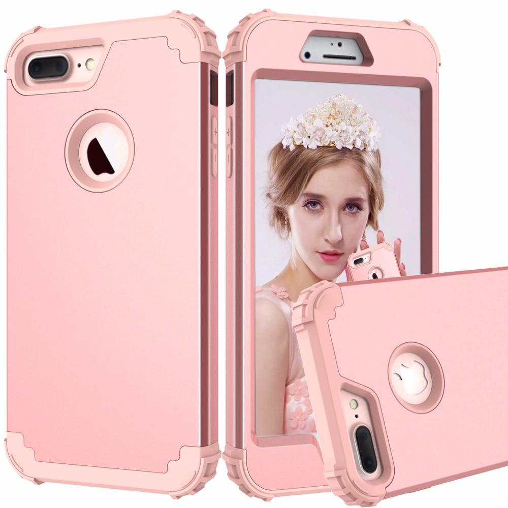 Shockproof Phone Cases für iPhone 6 6 S 7 Plus, PC + TPU 3-schichten Hybrid-Körper Zu Schützen fall für iPhone 7 Antiklopf Telefon Shell